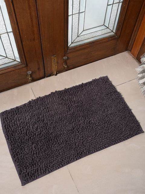 Avira Home Grey Solid 1600GSM Microfiber Chennile Doormat