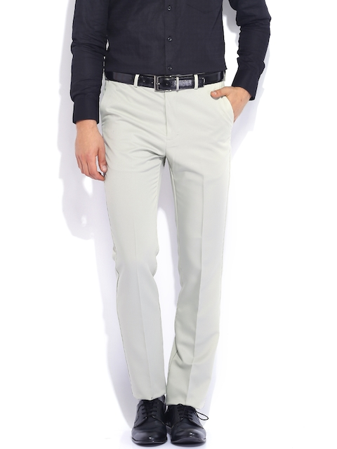 Arrow Beige Tapered Fit Formal Trousers