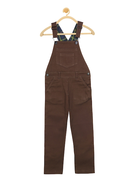 Cherry Crumble Kids Brown Solid Dungaree