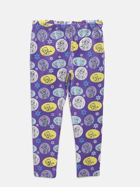 TAMBOURINE Girls Purple Printed Leggings