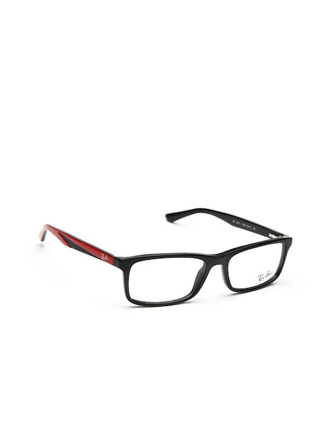 Ray-Ban Unisex Black & Red Rectangular Frames 0RX5337I552852