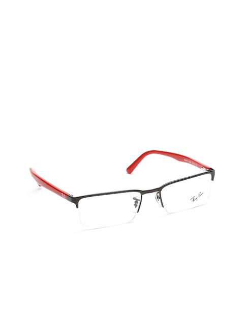 Ray-Ban Unisex Black Rectangular Half-Rim Frames 0RX6271I250953