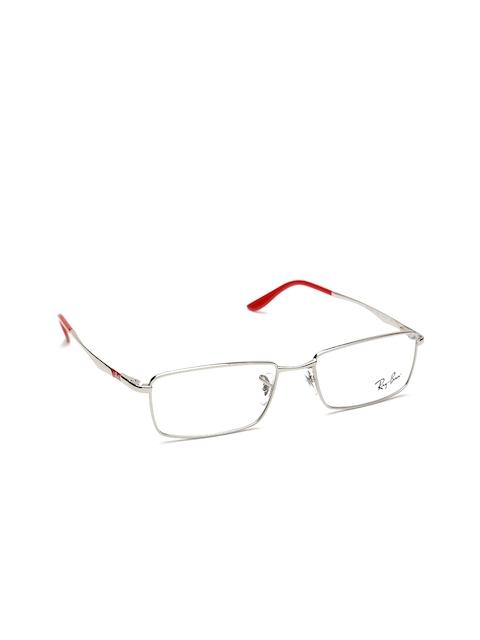 Ray-Ban Unisex Steel-Toned Rectangular Frames 0RX6302I250154