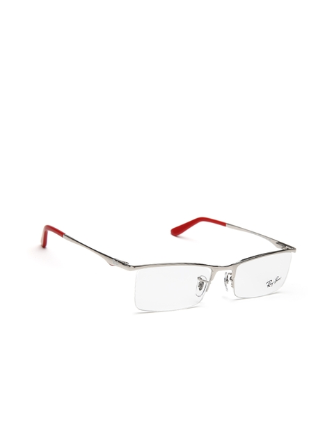 Ray-Ban Unisex Silver-Toned Rectangular Half-Rim Frames 0RX6323I250152