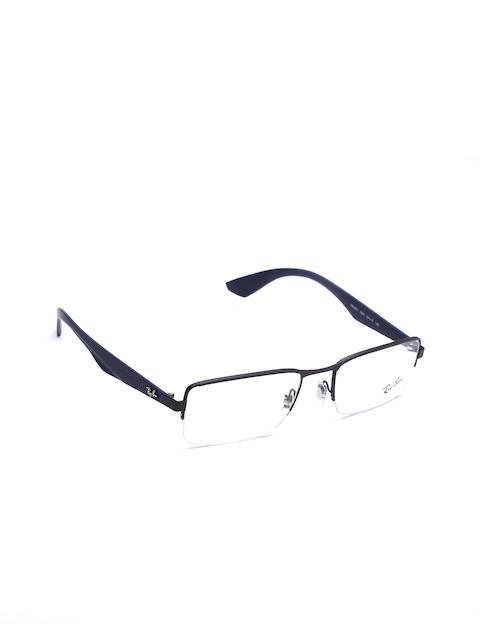 Ray-Ban Unisex Black & Navy Rectangular Half-Rim Frames 0RX6341I253853