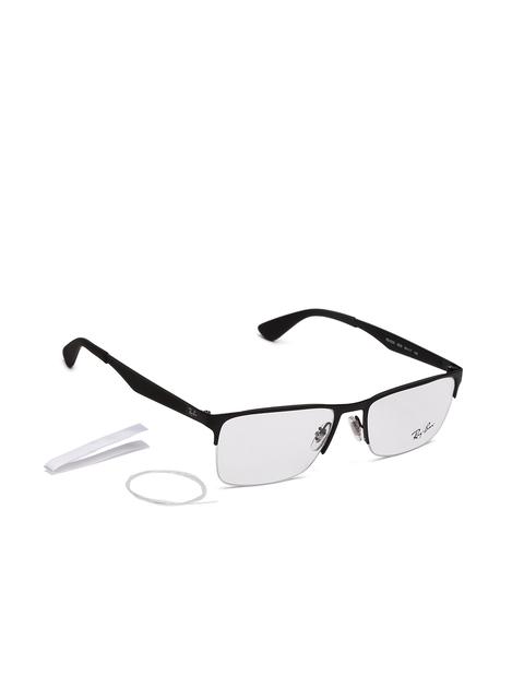 Ray-Ban Unisex Black Rectangular Frames 0RX6335250354