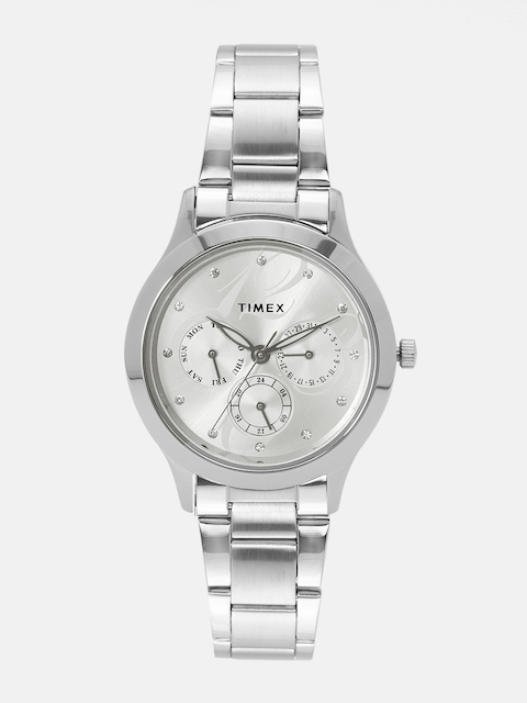 Timex Women Silver-Toned Analogue Watch TI000Q80000
