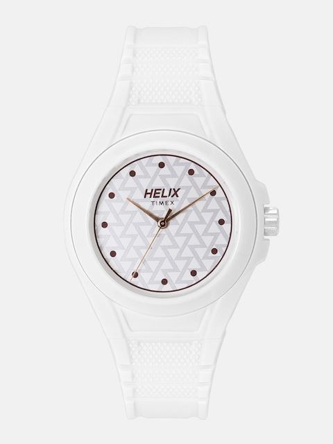 Timex Women White Printed Analogue Watch TWESK0600T