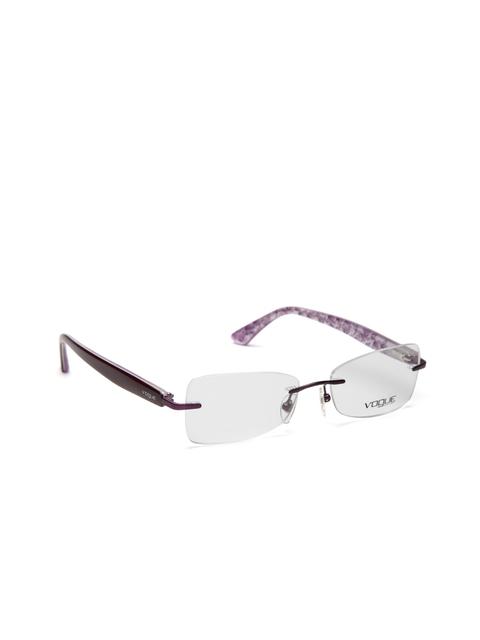 vogue Men Purple Rectangular Rimless Frames 0VO3768I812S52