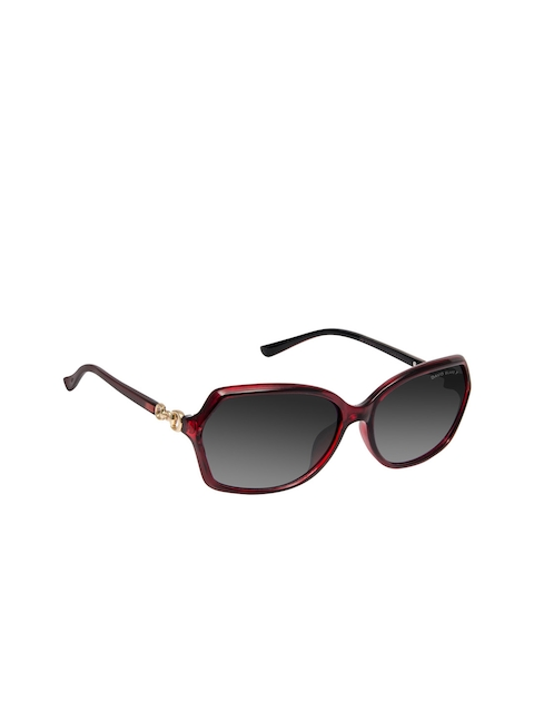 David Blake Grey Women Oval Sunglasses SGDB1335