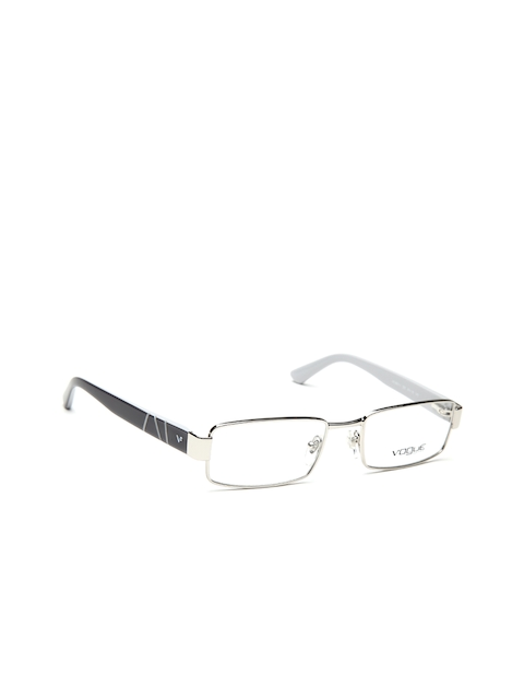 vogue Men Steel-Toned & Grey Rectangular Frames 0VO3911I32353