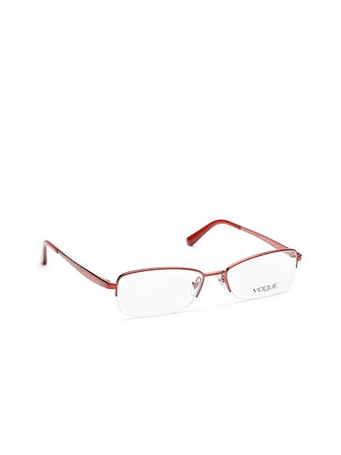 vogue Men Red Rectangular Half-Rim Frames 0VO3969I98352