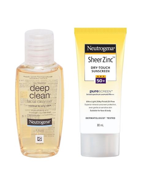 Neutrogena Set of Deep Clean Facial Cleanser & Sheer Zinc Dry Touch SPF50+ Sunscreen