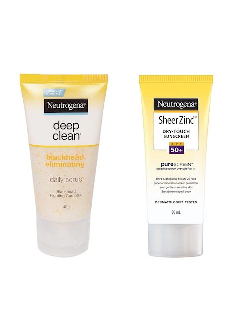 Neutrogena Deep Clean Black Head Eliminating Daily Scrub & Sunscreen