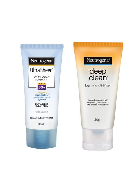 Neutrogena Set of Face Cleanser & Sunscreen