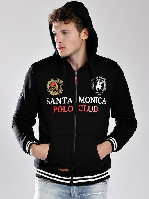 Santa Monica Black Hooded Sweatshirt