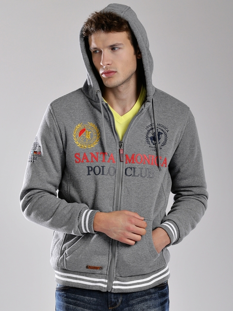Santa Monica Grey Hooded Sweatshirt