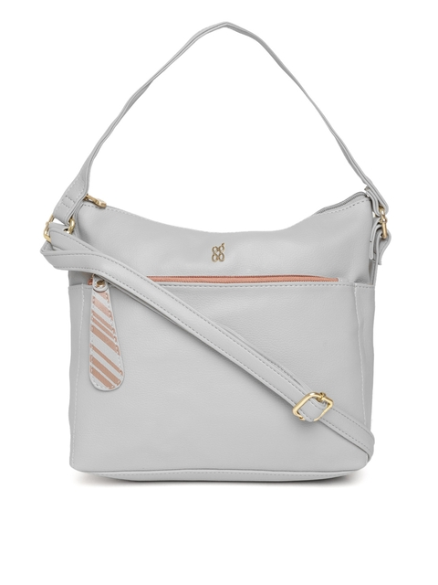 Baggit Grey Solid Handheld Bag