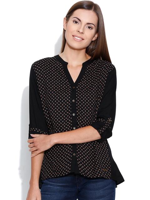 Being Human Clothing Black Printed Shirt