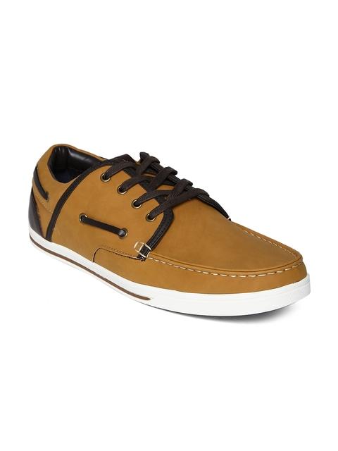 ALDO Men Tan Brown Leather Casual Shoes