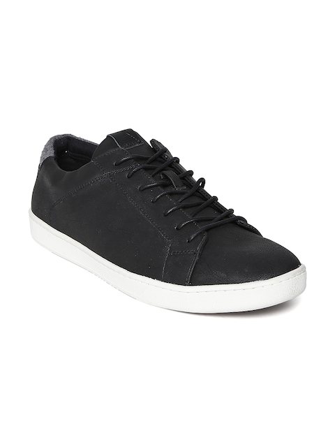 ALDO Men Black Leather Sneakers