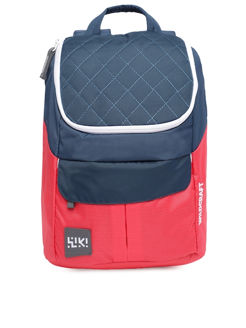 Wildcraft Unisex Navy Blue & Red Colourblocked Backpack