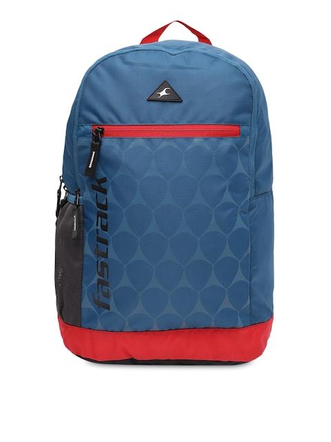 Fastrack Men Blue Graphic Backpack