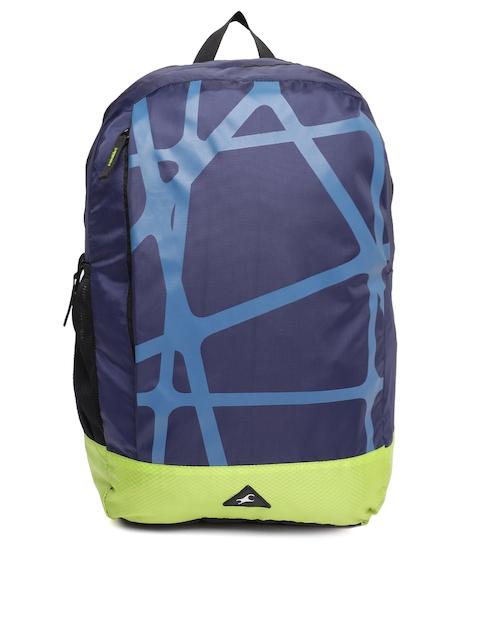 Fastrack Men Blue Graphic Printed Backpack