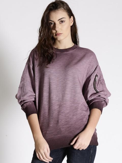 G-STAR RAW Burgundy Sweatshirt