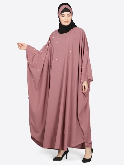 NAZNEEN Women Pink Solid Burqa