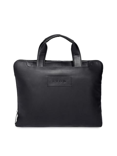 EVOQ Unisex Black Solid Laptop Sleeve