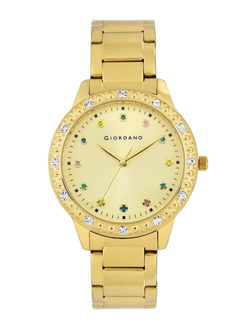 GIORDANO Women Muted Gold-Toned Dial Watch 2693-33