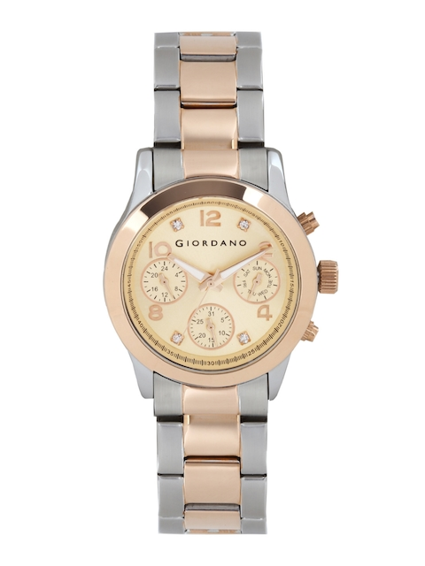 GIORDANO Women Rose Gold-Toned Dial Watch A2011-33