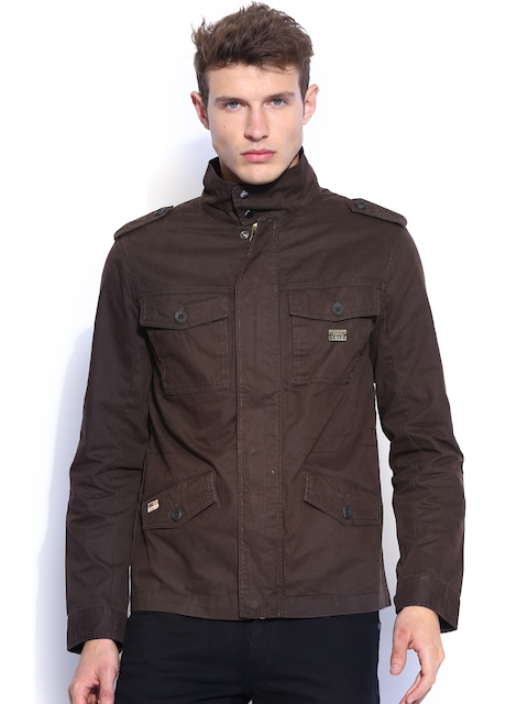 Wrangler Brown Parka Jacket  available at myntra for Rs.1518
