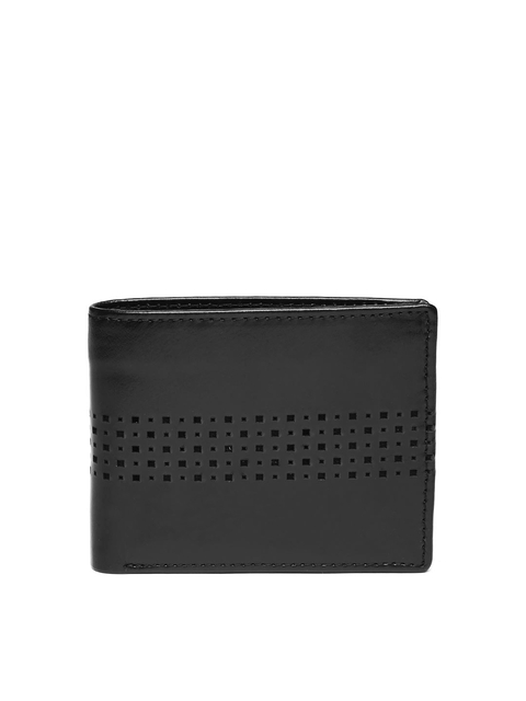 Allen Solly Men Black Leather Wallet