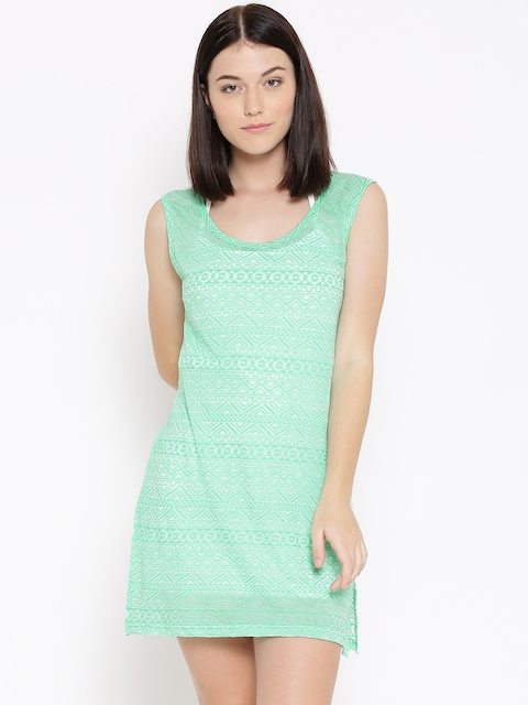 Clt.s Green Burn-Out Cover-Up Dress S20