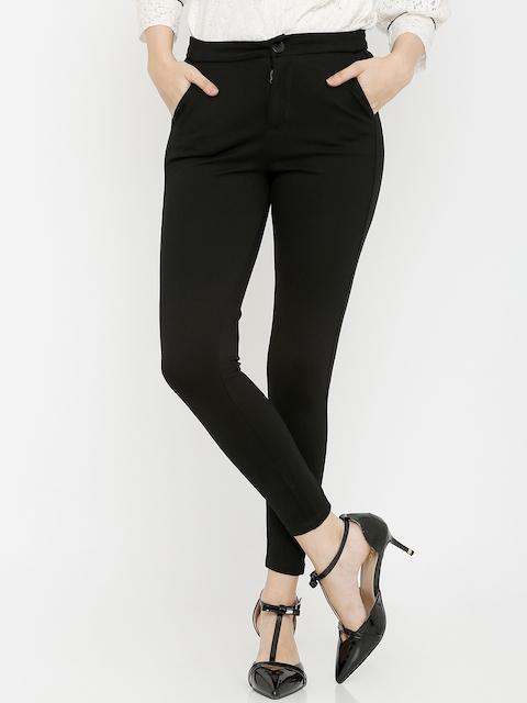 Kraus Jeans Women Black Solid Skinny-Fit Treggings