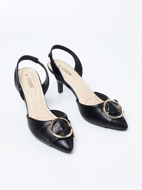 CODE by Lifestyle Women Black Solid Pumps