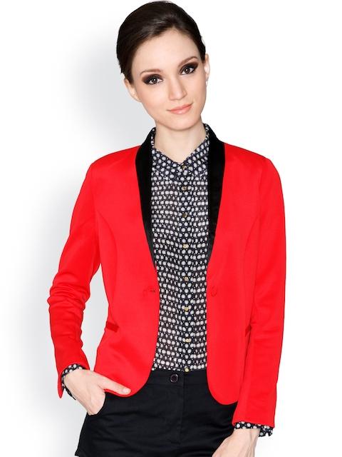 Label Ritu Kumar Red Jacket