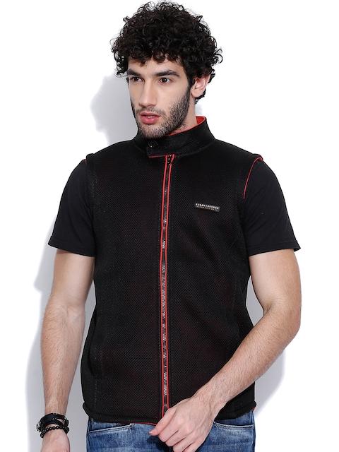 Cloak & Decker by Monte Carlo Black Mesh Sleeveless Jacket