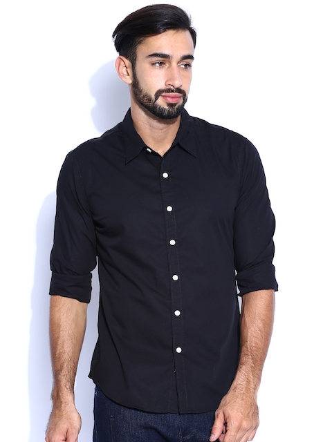 Levi's Black Slim Fit Casual Shirt