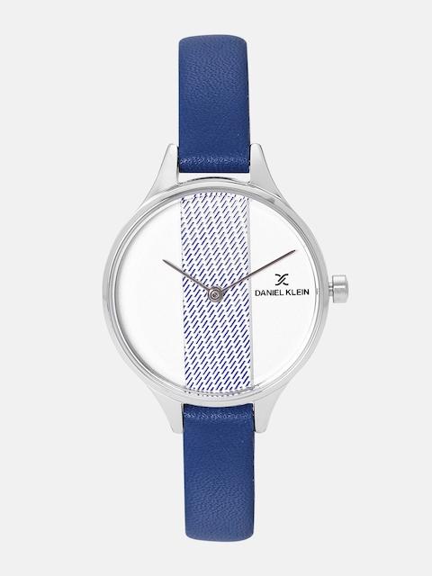 Daniel Klein Fiord Women Silver & Blue Analogue Watch 12050-4
