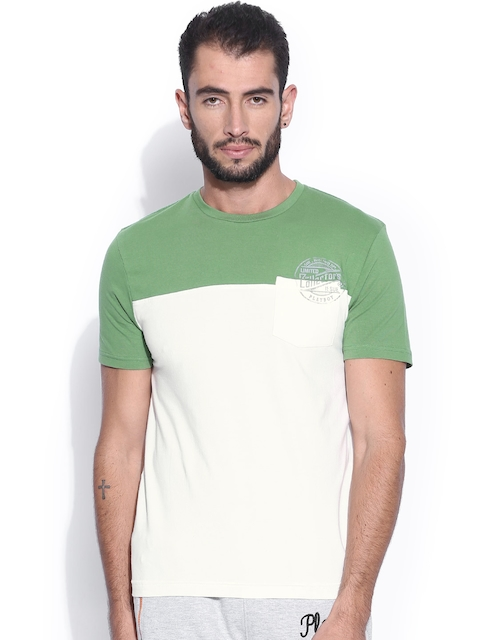 Playboy White & Green Lounge T-shirt LW 707