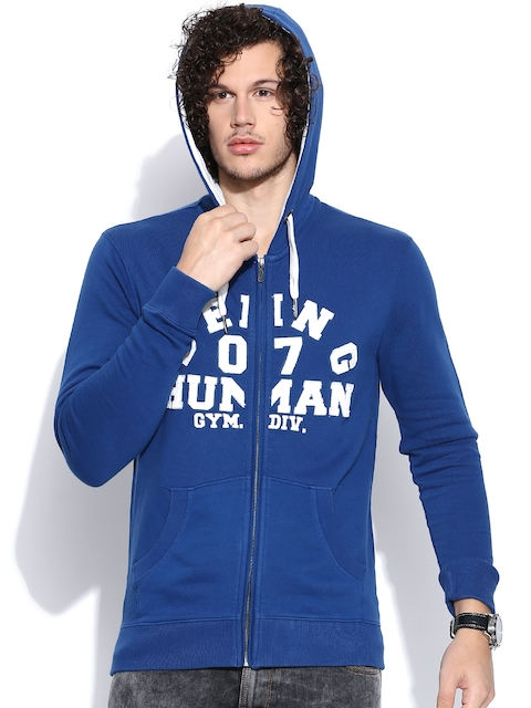 Being Human Clothing Blue Hooded Jacket