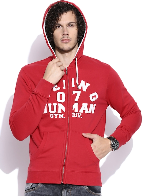 Being Human Clothing Red Hooded Jacket