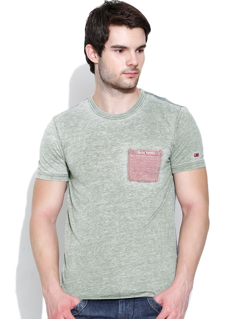 Being Human Clothing Olive Green & Grey T-shirt
