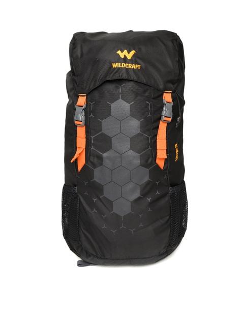 Wildcraft Unisex Black Printed Verge 35 Rucksack