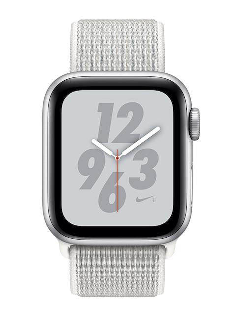 Apple Unisex Silver & White Nike+ Series 4 MU7F2HN/A