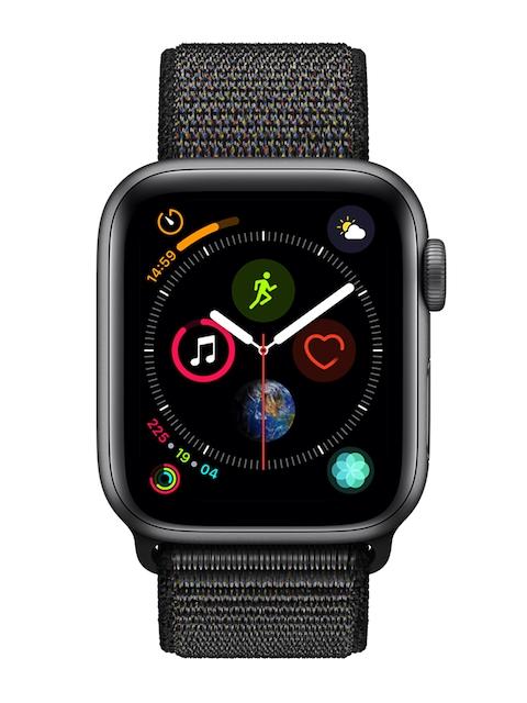 Apple Unisex Grey & Black Series 4 Smartwatch MU672HN/A
