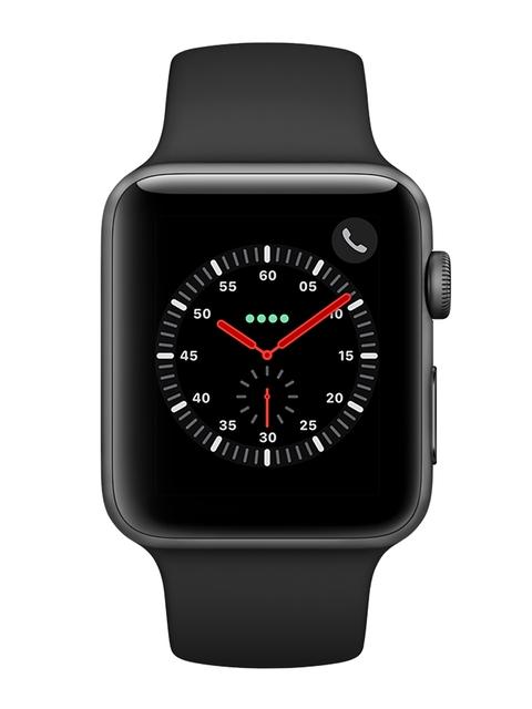 Apple Unisex Black Series 3 GPS + Cellular Smart Watch MTH22HN